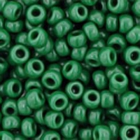 Opaque Pine Green Seed Bead size 11/0