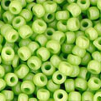 Opaque Sour Apple Seed Bead size 11/0