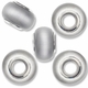 MIOVI™ Cats Eye Large Hole Beads w/Silver Plated Grommets 14x9mm Lt. Grey (5PK)