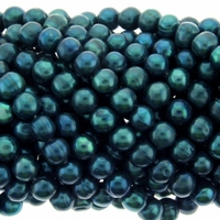 Night Blue Potato Freshwater Pearls 8-9mm