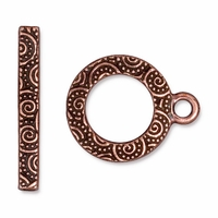 Antique Copper Spiral Clasp Set
