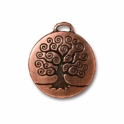 Antique Copper Tree of Life Charm