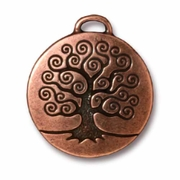 Antique Copper Tree of Life Pendant