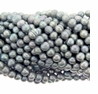 "9-10mm Silver Large Hole Freshwater Potato Pearl 8"" Strand"