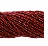Cranberry 1.5-2mm Potato Freshwater Pearl Bead Strand