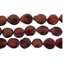 Coppery Brown Coin Freshwater Pearl 13-14mm Bead Strand