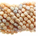 Natural Mix Crispy Baroque Nugget Freshwater Pearls 9-10mm