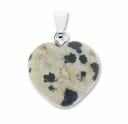 Dalmatine 20mm Heart Gemstone Pendant
