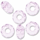 MIOVI™ Glass Crystal Cut Large Hole Beads no Grommets 14x8mm Alexandrite(6PK)