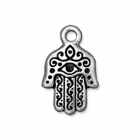 Antique Silver 20mm Hamsa Charm
