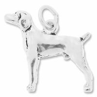Pointer Dog Charm Sterling Silver