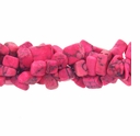 Hot Pink Turquoise (IM) Bead Chips 36 Inch Strand