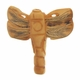 Hand Carved Bone 39mm Dragonfly Bead (1PC)