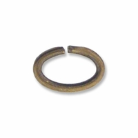 Antiqued Brass 4x6mm Oval Open Jump Rings 20GA (10PK)
