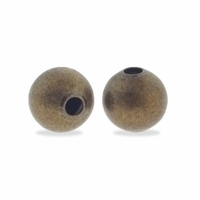 Antiqued Brass 5mm Seamed Round Bead (50PK)