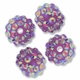 14mm 2XAB Rhinestone Lavender Resin Bead (4PK)