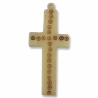 Large Cross 75mm Bone Pendant (1PC)