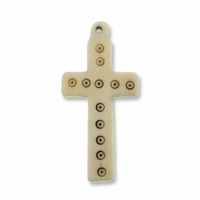 Medium Cross 55mm Bone Pendant (1PC)