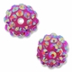 14mm 2XAB Rhinestone Rose Resin Bead (4PK)