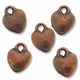Antiqued Copper 10mm Small Puff Heart Charms (10PK)