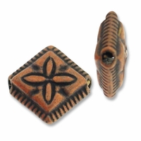 Antiqued Copper 11mm Diamond Beads (1PC)