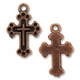 Antiqued Copper 18mm Cross in CROSS Charm (1PC)