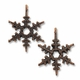 Antiqued Copper 18mm Snowflake Charm (1PC)