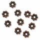 6mm Antiqued Copper Daisy Spacer Beads (10PK)