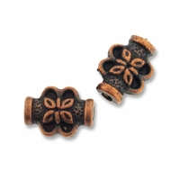 Antiqued Copper 8 x 6mm Floral Pot Beads (10PK)