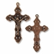 Antiqued Copper Large 55mm Crucifix Pendants (1PC)