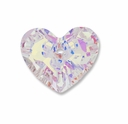 18mm Crystal AB Swarovski Truly in Love Heart