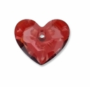 18mm Crystal Red Magma Shadow Swarovski Truly in Love Heart