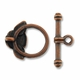 Antiqued Copper Plated 18mm Rose Toggle (1 Set)