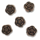 Antiqued Copper Plated 7mm ROSE Beads (10PK)