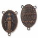 Antiqued Copper Rosary Oval 2-to-1 Link (1PC)