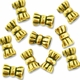 Antiqued Gold Plated 4x5mm Tie Barrel Bead (10PK)