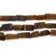 Tiger Eye Rectangle 9x3mm Beads 14 inch Strand