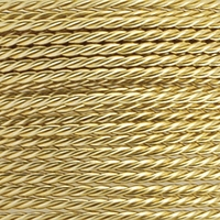 Brass Color 20GA Twist Round Wire 3YD