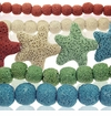 Colored Lava Rock Beads