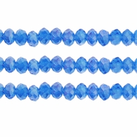 Light Sapphire AB 3x4mm Faceted  Crystal  Rondelle Beads 11.8 Inch Strand
