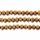 Metallic Bronze 3x4mm Faceted  Crystal Rondelle Beads 11.8 Inch Strand