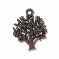 Antiqued Copper 19mm Tree Charm (10PK)