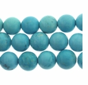 8mm Round Blue Chalk Turquoise 16 Inch Strand