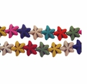 Mixed Color Turquoise Star Beads 16 Inch Strand