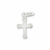 Sterling Silver Small Cross Charm (1PC)