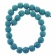 10mm Turquoise Round Lava Rock Beads 16 Inch Strand