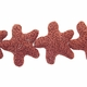 39mm Coral Star Lava Rock Beads 16 Inch Strand