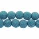 14mm Turquoise Round Lava Rock Beads 16 Inch Strand