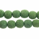 14mm Moss Round Lava Rock Beads 16 Inch Strand