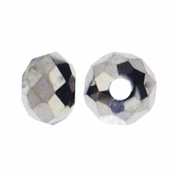 Majestic Crystal® Platinum 3x4mm 32-Facet Crystal Rondelle Beads (50PK)